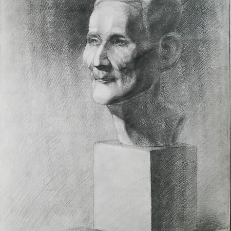 Học cách vẽ tượng ông già, đánh bóng khối, tphcm, luyện thi kiến trúc, học vẽ mỹ thuật