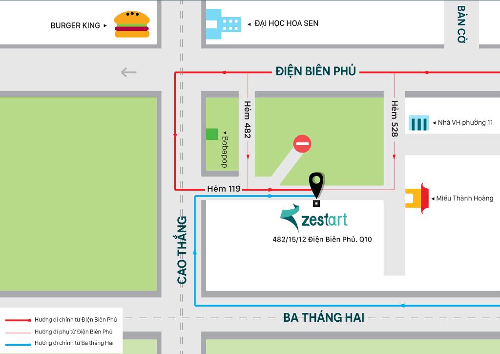 địa chỉ trung tâm lớp vẽ Zest Art