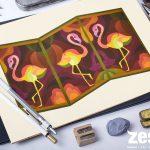Các bài vẽ trang trí màu của các học viên Zest Art khóa 2018