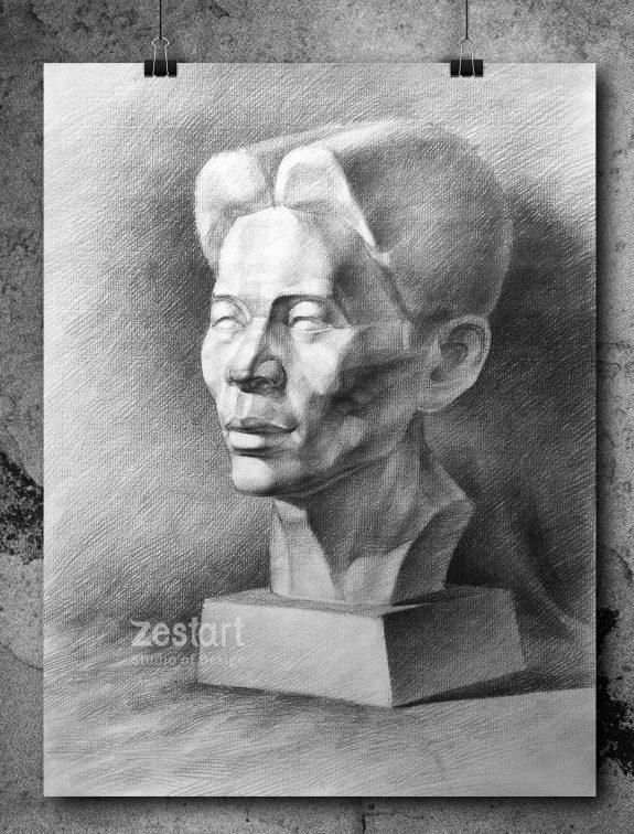 vẽ đầu tượng thạch cao vào đại học kiến trúc hcm