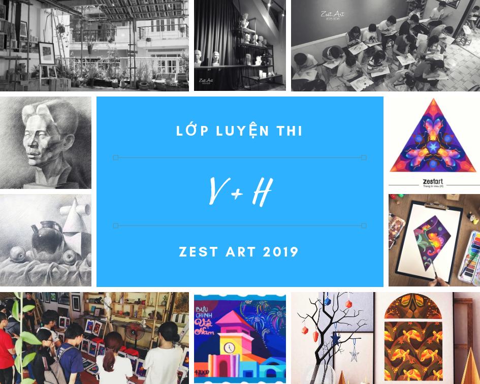 Lớp luyện thi vẽ vào đại học kiến trúc mỹ thuật 2019, Zest Art