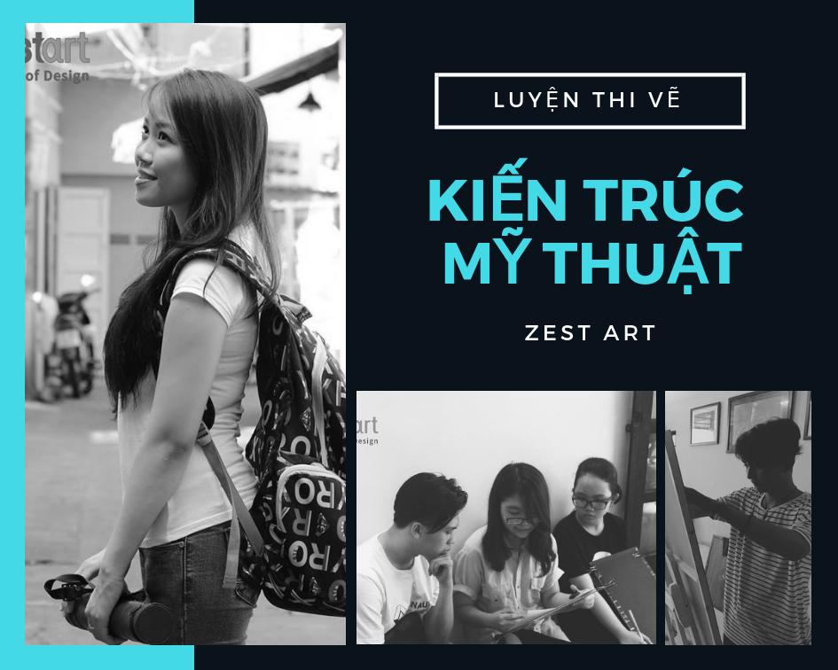 luyện thi vẽ kiến trúc mỹ thuật ở tphcm zest art studio, trung tâm dạy vẽ