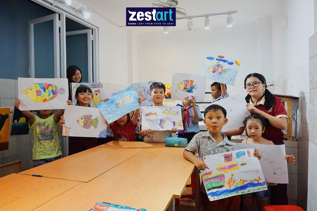 Lớp vẽ hội họa cho bé thiếu nhi tại tphcm, bình thạnh và quận 10