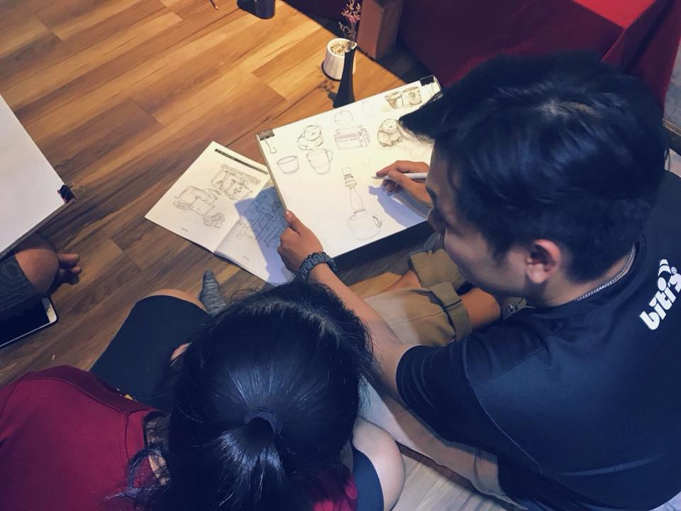 Hướng dẫn vẽ tĩnh vật thi vào đại học tôn đức thắng