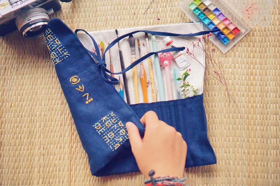 túi đựng bút chì cọ vẽ