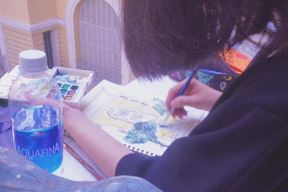 zest đi vẽ kí họa tại bảo tàng mỹ thuật thành phố hồ chí minh