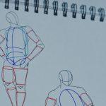 số sketchook của học viên ký họa dáng người ở zest art