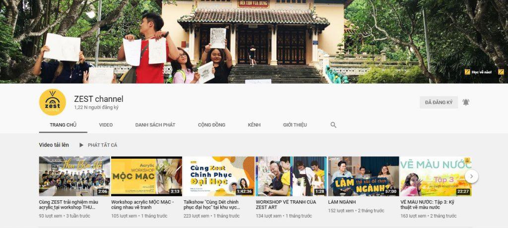 kênh youtube hướng dẫn vẽ, định hướng ngành nghề