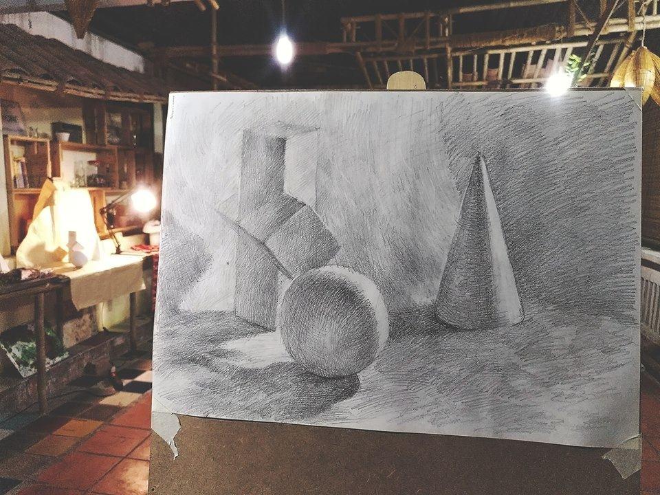 học vẽ chân dung từ những hình khối cơ bản nhất sẽ giúp người học có thể kiến thức hình họa