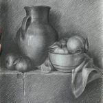 bài vẽ tĩnh vật của học viên học vẽ online Zest Art