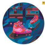 bài vẽ trang trí màu ứng dụng thiết kế giày của học viên zest art