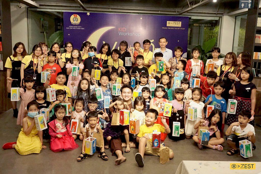 workshop cho bé nhân dịp trung thu vẽ tranh và tạo hình lồng đèn