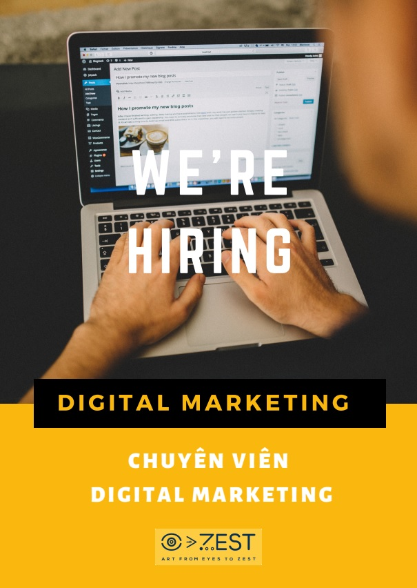 Tuyển dụng Digital Marketing- Zest Art
