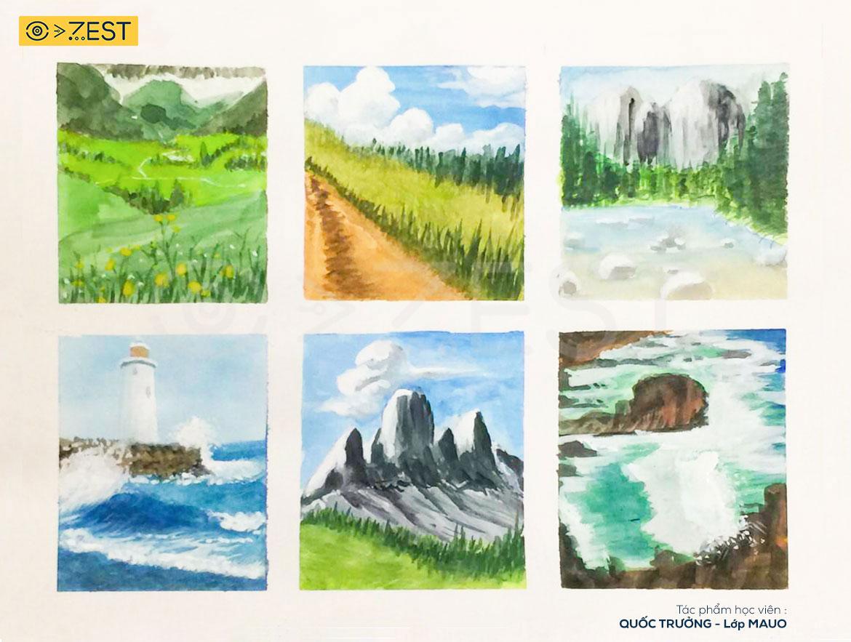 Tranh phong cảnh - Khóa học vẽ online