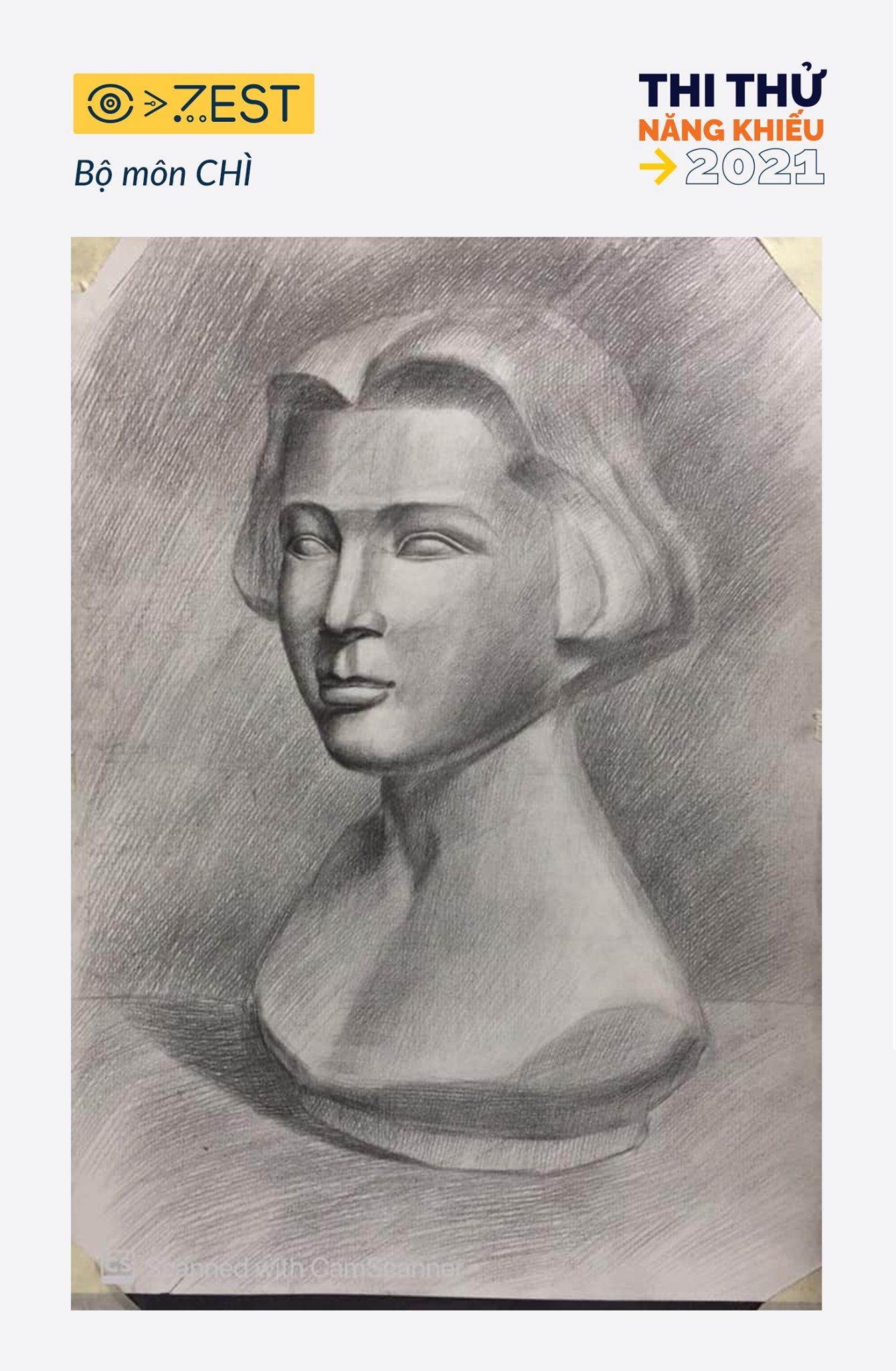 Tranh đầu tượng - Luyện thi vẽ online